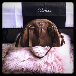 Cole Haan leather purse 2 handles with dust bag